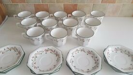 12 x Eternal Beau Tea Cups And Saucers in great condition no chips or marks