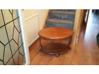 Wonderful Antique Wooden Coffee Table (unusual shape)