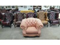 Stunning brown Thomas Lloyd chesterfield club chair UK delivery CHESTERFIELD LOUNGE
