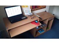 Modular single/double size student study computer desk