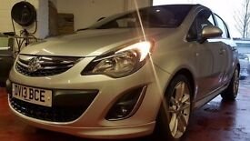 2013 VAUXHALL CORSA 1.4 SRI ,5 DOOR ,SILVER ,LOW MILEAGE, GREAT FIRST CAR