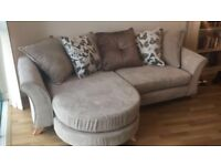Nearly new dfs corner sofa/ chase longe - left/ right handed sofa