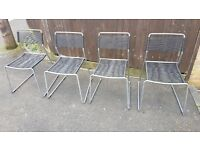 Set of four garden chairs - can deliver if not too far