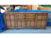 oak wood sideboard