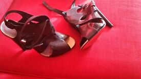 size 8 black leather Carvela heels - never worn