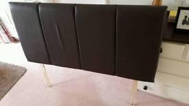 Faux leather double headboard