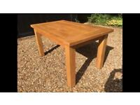 Solid oak wood farm house family kitchen dining table