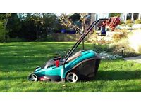 Bosch Rotak 43 electric mower hardly used