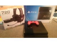 Ps4 500gb black and trittons 7.1