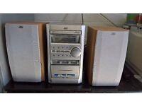 JVC CD, Radio and tape player