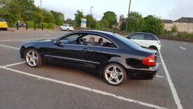 Mercedes CLK 280 Avantgarde AMG Equipment 3 litre petrol coupe, 2007, leather, low mileage, full SH