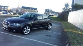 2007 audi a3 2.0tdi black diesel 5dr not golf leon