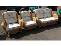 Conservatory 2 seater sofa with 2 armchairs