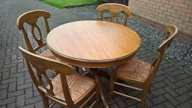Marks & Spencer Extending Dining Table plus 4 chairs