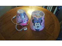 Minnie Mouse night lamp and lamp shade