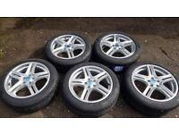 "5x 17"" Diamond Equinox alloy wheels (5x105) + 205/50R17 tyres - brand new"