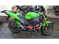 Kawasaki zx636 fully loaded stunt bike