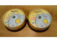 CD-R 25pk x 3 (75 Discs) Recordable Discs, 700MB/80MIN
