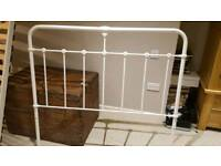 Bed frame (white, metal, double)