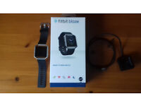 Fitbit Blaze smart fitness watch. Size small. Stainless steel/black. As new condition. £90.00.