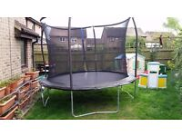 Swap a 10ft trampoline (too big!) for an 8ft one or similar