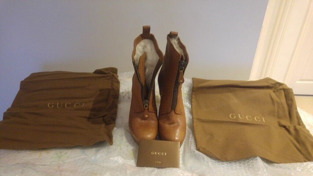 886f09139 Authentic Beautiful Gucci Boots - Light Brown Leather - Size UK 5.5 / EU 38  1/2