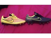2 pairs of Nike boots size 8 FG