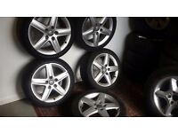 """AUDI SET OFF -17"""" Inch Alloy Wheels With Tyres 225/45/ ZR17"""