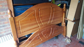 """Double solid wooden bed """"good condition"""""""