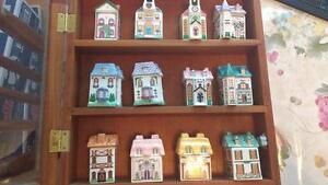 Set of 12 space houses