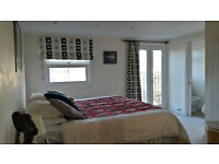 * * SHORT LET - AVAILABLE NOW : Spacious Top Floor Dble with En-Suite for a Quiet Working Prof * *