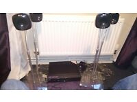 LG surround sound system 4 speakers and subwoofer bought for £200 new quality sale only £60