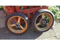 Gsxr 600 gold wheels