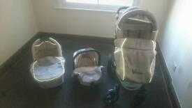 Baby Pram - Child Stroller - Pushchair + Car Seat - 3in1