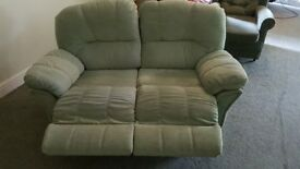 2 seater recliner sofa and armchair