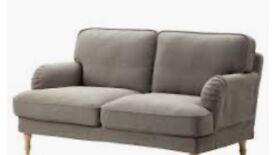 Two seater grey ikea sofa