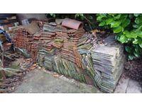 Roof tiles plain clay appox 1000