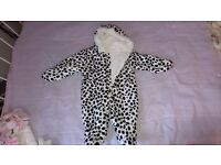 Mothercare dalmatian snowsuit and baby girl winter coats 3-6 months