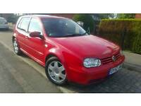 2003 VOLKSWAGEN GOLF 1.9 GTTDI 150 RED 5DR QUICK SALE £650 O N O