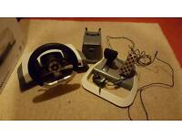 Xbox 360 steering wheel and stand