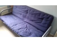 Metal frame small double futon