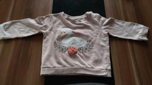 Pull automne rose cigne taille 36 mois ( 98 )