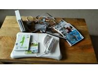Wii console, wii fit and games