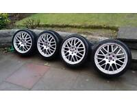 """17"""" ZCW 5x100 alloy wheels with tyres"""