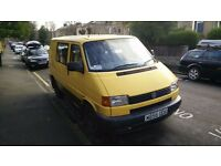 VW Volkswagen T4 2.5 tdi (Yellow, ex-AA) Year MOT 6 Seater