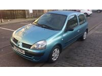 *****RENAULT CLIO (58 reg).1.2 petrol,LONG MOT 20/10/2017,fsh,39k,very clean and well maintained car