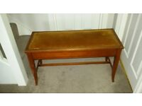 Beautiful antique double/duet piano stool with storage