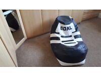 football boot bean bag seat