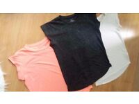 3 used T-shirts Size 8,10