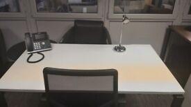 Single white office desk/table/computer desk, 2 available, £70 each